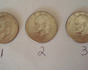 1976-D Eisenhower Bicentennial Dollar Coin 1776-1976 Denver Mint Type 2