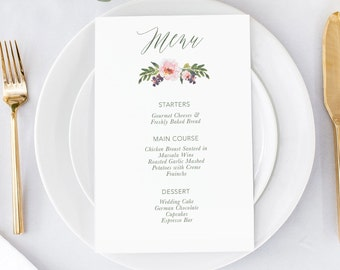 Dinner Menu. Custom Menu. Wedding Menu Cards. Wedding Menus. Watercolor Wedding. Wedding Reception. Menu Cards. Pink Watercolor Menu. Menu.