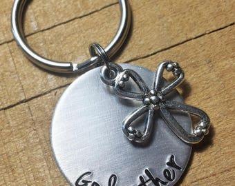 Godmother Gift - Gift for Godparent - Baptism Gift - Godparent Keychain - Godmother Keychain - Godparent Gift - Baptism Keychain