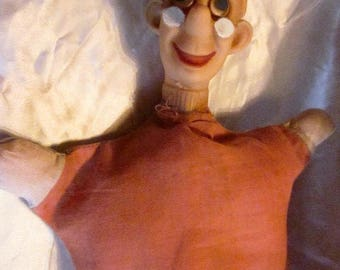 HOWDY DOODY DILLYDALLY Puppet,1940's-1950's Television Show.Dilly Dally Hand Puppet, Howdy Doody Show, Vintage Television, Tv Toys,