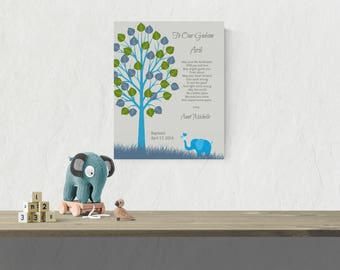 Baby Boy Baptism Gift Godson Baptism Gift Baby Boy Room Nursery Art Gift from Godparents Gift From Godmother Godson Baptism Gift - 50177