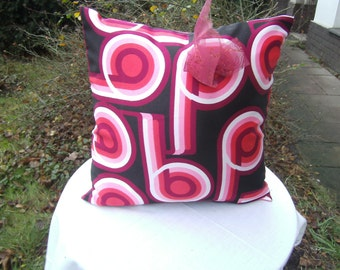 rosa- red Pillow - Vintage - 70-th - handmade Pillow - homedecor - romantic Pillow
