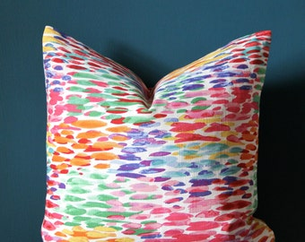 Colorful Pillow Cover - Multicolor Pillow Cover - Colorful Nursery - Colorful Decor - Spring Decor - Pastel Pillow - Easter Pillow