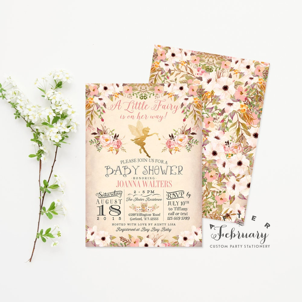 Kitchen Tea Invites Garden Party Invite Etsy