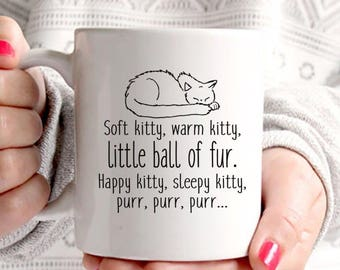 Big Bang Theory Coffee Mug | Soft Kitty Sleepy Kitty | Sheldon Coffee Mug | Gift For Her | Cat Coffee Mug | Coffee Mugs Never Lie