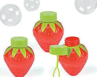 6/ Sweet Strawberry Party Favor bubbles   / Girls Party Theme / Party favor / Strawberry Shortcake Theme / Party bubbles