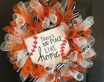 Baseball Wreath No Place Like Home