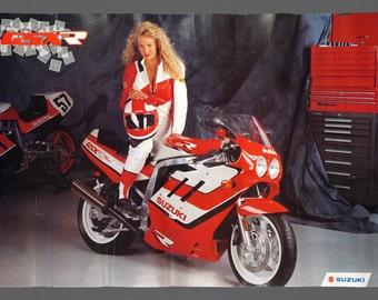 1980s Suzuki GSX-R Series Poster 24 x 36 Vintage Poster