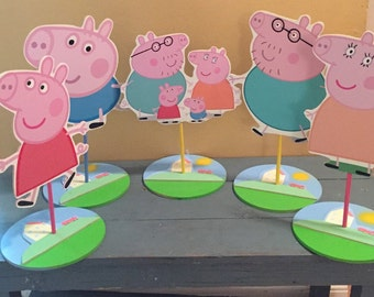 Peppa the pig inspired Character Centerpiece, peppa party, george