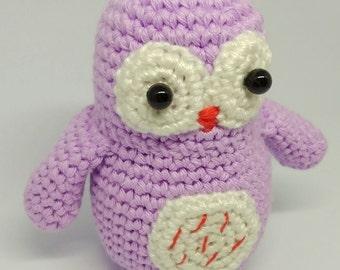 Handmade crochet amigurumi owl kawaii - READY TO SHIP -