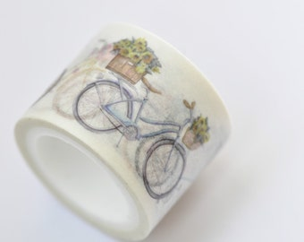 Bicycle Washi Tape 30mm wide x 5m long (approx. 1.2 inch wide x 5.5 yards long) No. 12228