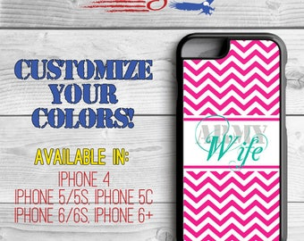 Army Wife Phone Case - Chevron Phone Case - Army Wife iPhone case - iPhone 5 - iPhone 5s - iPhone 5c - iPhone 6 - iPhone 6 Plus