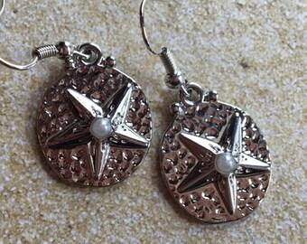 Metal Starfish Earrings, Beach Earrings, Seaside Earrings, Ocean Earrings, Gift For Her