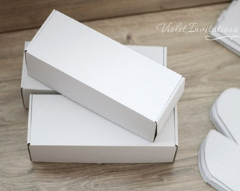 10 White Shipping Boxes Pack: *For Scroll Invitations in This Shop Only*