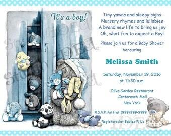 "Teddy Bear & Baby Animals Customized Printable Invitation-Personalized DIY Printable 5""x7"" or 4""x6"" - Baby Shower- Birthday YOU PRINT"