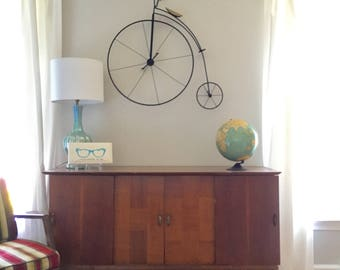 Artisan House Metal Wall Sculpture, Old Time Bicycle Wall Decor, Freestanding C. Jere  Bicycle Art