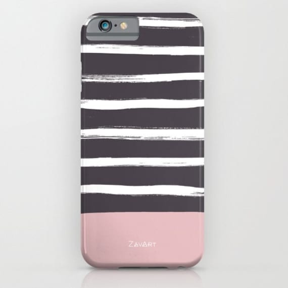 FUNDA MOVIL RAYAS - Lila y rosa - iPhone 5/5S/Se, iPhone 6/6S, iPhone 7