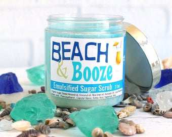 Tropical Emulsified Sugar Scrub, Pina Colada Sugar Body Scrub, Coconut Scrub, Beach Wedding Favors, Beach Gifts, Sugar Scrub Favors