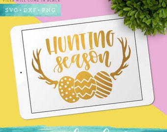 Easter Svg Files / Hunting Season Svg Cutting Files / Antler SVG for Cricut Silhouette / Egg Svg SCAL Commercial Use
