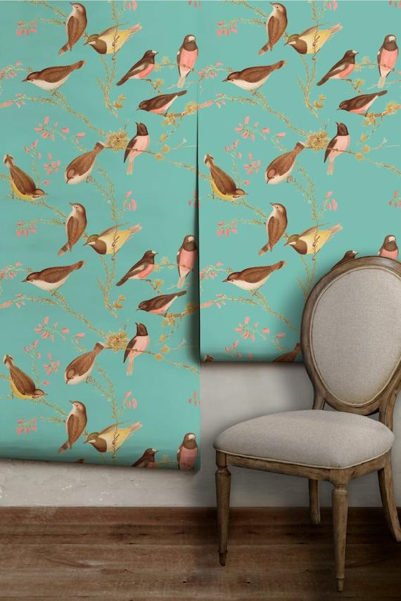 Bird Chinoiserie Peel 39 N Stick Wallpaper Easy To Apply