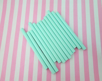 10 Mint Green glue sticks for drippy deco sauce, cell phone deco etc,