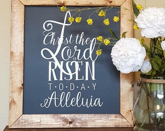 Easter Wood Sign, Easter Decor, Christ the Lord is Risen, Alleluia Wood Sign, Spring Decor, Easter Spring Decor, Home Decor