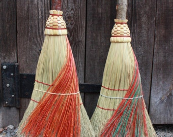 Sweeper Broom with Colored Fiber Wrap Around