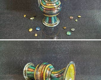 Ceramic earring holder, makeup holder, brushes holder, earring vase, pottery earring bowl, jewelry pedestal, jewelry holder, earring tree