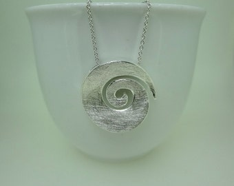 Sterling Silver Celtic Spiral Necklace