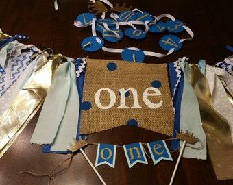 Birthday Package Boy, Birthday Package Prince, Boy First Birthday Decorations, Boy First Birthday Decor, Boy 1st Birthday Crown
