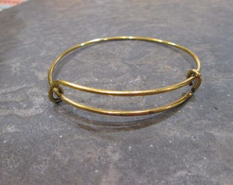 Antique Gold Finish with black patina adjustable bangle bracelet blanks expandable bangle bracelets popular style