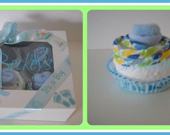 Washcloth Cupcakes Baby Gift