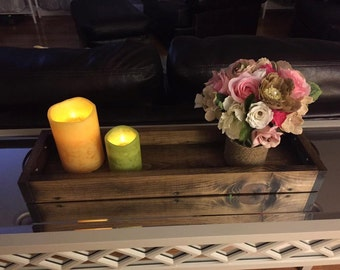 Rustic Table Centerpiece/Mason Jar Tray/Wooden Tray/Table Centerpiece/Rustic Candle Holder/Mason Jar Decor/Rustic Home Decor/Candle Tray