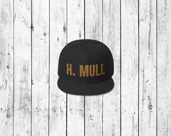 H. MULL - Hamilton inspired black snapback cap