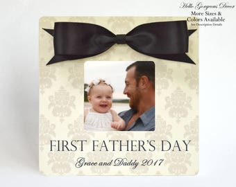 FIRST FATHER'S DAY Gift to Dad Picture Frame Personalized Gift for Father from Daughter Son Baby Father's Day Frame New Daddy Gift Ideas