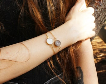 Geode Druzy Bracelet Gold