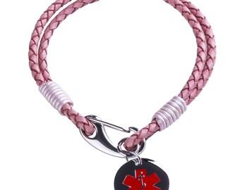 Girls Medical Alert Bracelet - Medical ID Bracelet - Engraved with any Message