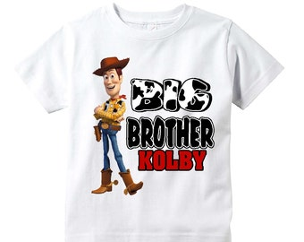 Big Brother Shirt Toy Story Woody Shirt Youth Toddler Infant Adult  p309