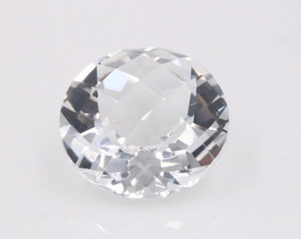 Rock Crystal Quartz 15mm, 10mm  Round Loose Stone