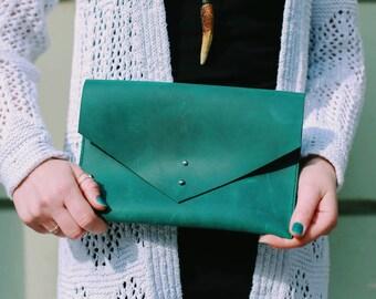 Leather clutch bag, leather handbag, leather clutch, leather Kindle sleeve, leather bag, leather tablet case, gift for her, bag