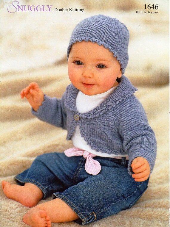 baby childs childrens bolero knitting pattern PDF girls bolero with collar ha...