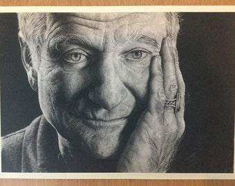 """Robin Williams A3 sized print (11.69""""x16.53"""")"""