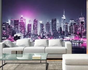 Photo Wallpaper Wall Murals Non Woven 3D Modern Art Manhattan New York  Skyline Wall Decals Bedroom Part 92