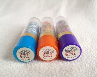 Totally Tubular Vintage Mood Lipsticks of the 80s - Set of 3 Green Orange Purple