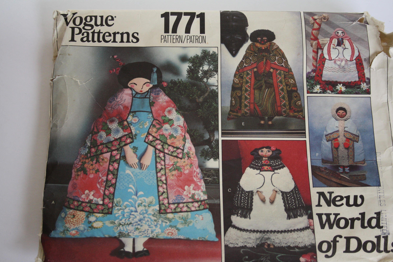 New world of dolls uncut vogue 1771 sewing patterns make sold by vintagepatternsdepot jeuxipadfo Choice Image