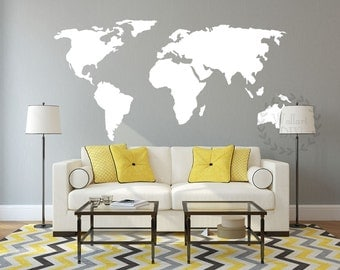 World map wall decal our incredible world world map wall vinyl world map wall decal large map wall mural map of the world wall sticker custom gumiabroncs Images