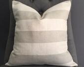 Pillow Cover, Cream Stripe Pillow Cover, EMMA