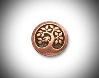 Copper Tree of Life Lapel Pin, Mens Tie Tack Celtic Jewelry Irish Jewelry Groomsmen Gift Unisex Bohemian Bridal Celtic Jewelry