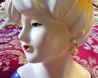 Vintage 1950's Napcoware Lady's Head Vase/REDUCED PRICE