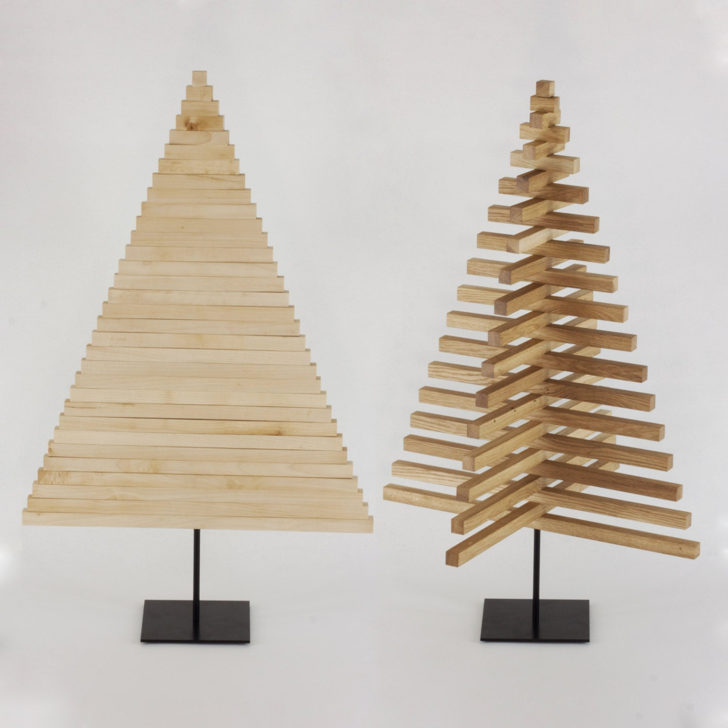 Wooden christmas tree 40 inch 100 cm oak maple wood Christmas trees made out of wood
